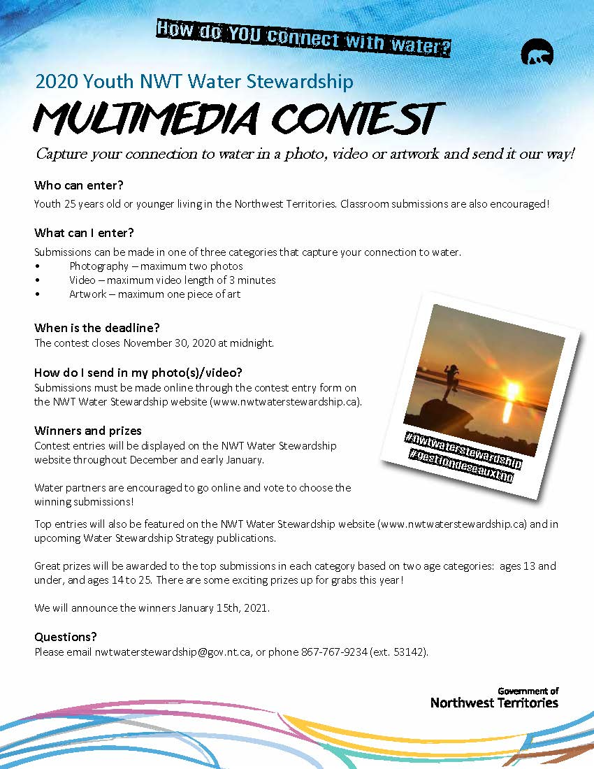 2020 Youth NWT Water Stewardship Multimedia Contest